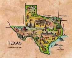 Geography For Kids, Maps For Kids, Sound Map, Fishing Maps, Texas Wall Art, Washington Map, Republic Of Texas, Texas Gifts, City Events