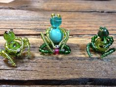 Beaded Frog Family, inspiration only