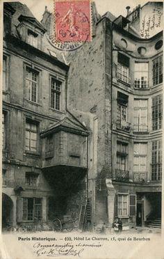 Hôtel Le Charron, 15 quai de Bourbon, Ile Saint-Louis, Paris 4ème, 1906