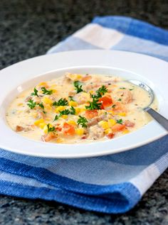 Red Shallot Kitchen: Mexican Style Chicken Corn Soup