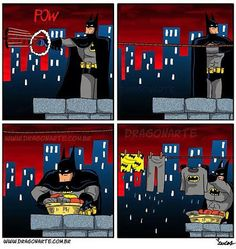 I hate when Alfred's going Holiday! Thank god Superman is not around!
