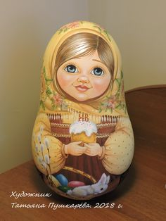 Неваляшка 23,5 см Wooden Figurines, Matryoshka Doll, Russian Art, Gourds, Folk Art, Japanese, Dolls, Drawings, Crafts