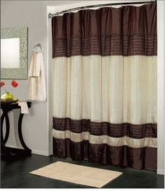 Kashi Home Ibiza Shower Curtain Brown Ivory This Is A Gorgeous Which Looks Great In Any Bathroom It Has Color Scheme