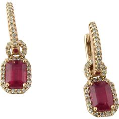 Vintage 14K Rose Gold Genuine Ruby and Diamond Earrings Just A FEW MORE HOURS left in the #RubyRedTagSale - Get this item at 30% off until Thursday 7/21/16 at 8 am PDT when the sale ends! www.rubylane.com @rubylanecom