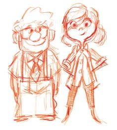 Young Carl and Ellie / 17 Pieces of Stunning UP Concept Art