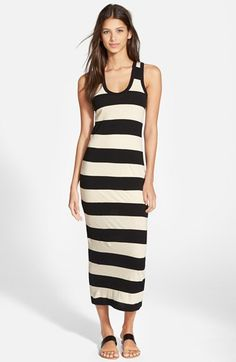 James Perse 'Bar Stripe' Tank Dress available at #Nordstrom