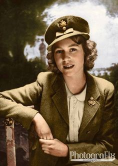 #WW2ColourisedPhotos    ...... Today Queen Elizabeth II became the longest reigning British monarch at 63 years and seven months - calculated at 23,226 days, surpassing the record set by her great-great-Grandmother, Queen Victoria. This photo shows a young Princess Elizabeth who became Colonel in Chief of the Grenadier Guards in October 1942.  In February 1942, the King appointed his fifteen-year-old daughter Colonel of the Grenadier Guards, the senior Regiment of the Foot Guards.