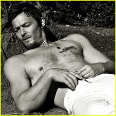 Oh, hey, Daryl from Walking Dead. Just laying around waiting for @trinity jackson? Nice.
