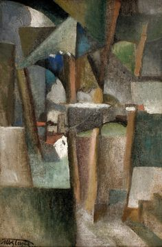 Albert Gleizes (French, 1881-1953), Les arbres, 1910-12. Oil on canvas, 41 x 27…