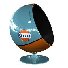 Eero Aarnio's Ball Chair with Gulf racing livery!