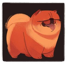 240: Chow Chow (Dog Week, day 7) That's all for the dog drawings, it's been fun!