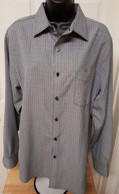 Croft & Barrow Men's Black/White Plaid Button Down Shirt Size M #CroftBarrow #ButtonFront