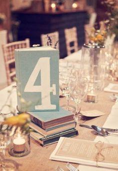 Hochzeits-Dekoration: Dekoration für den Tisch mit Tischnummern