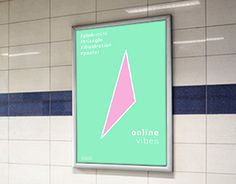 """Check out new work on my @Behance portfolio: """"online vibes / poster"""" http://be.net/gallery/34963145/online-vibes-poster"""