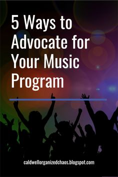 Whether we like it or not, advocating for our school music programs is part of our reality as music teachers. While it can be exhausting constantly having to justify our existence, we have to be our own advocates if we want our students to have access to the best possible music education. Here are 5 concrete, practical ways you can advocate for your music program. Music Teachers, Parents As Teachers, New Teachers, Teaching Music, Teaching Resources, Classroom Management Tips, Behavior Management, Classroom Setup, Music Classroom