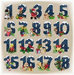 Advent Calendar charts available for download