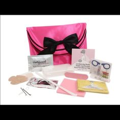 Hollywood Bridesmaids Fashion Emergency Kit Your best-friends big day is here and you need to keep your cool in case a situation arises! The Bridesmaid's Fashion Emergency Kit includes: (6)Hollywood Fashion Tape Strips, Sewing Kit, Blister Pad, Bobby Pins, Tissues, Nail File, Lint Removing Sheets, Oil Blotting Tissues, Hair Band, Stain Removing Wipe, Static Guard, Drinking Straw, and Deodorant Wipe. And SPECIALLY for the bridesmaid, the kit includes: Deodorant Removing Sponge and No-Show…