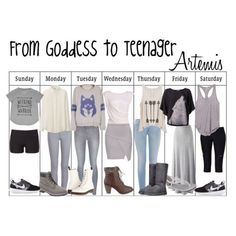 From Goddess to Teenager: Artemis Percy Jackson Cabins, Percy Jackson Books, Percy Jackson Fandom, Hunter Of Artemis, Percy Jackson Outfits, Daughter Of Poseidon, Character Inspired Outfits, Cool Outfits, Fashion Outfits