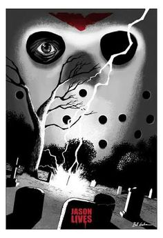 Best Horror Movies, Horror Movie Posters, Horror Films, Scary Movies, Horror Icons, Horror Artwork, Movie Covers, Jason Voorhees, Friday The 13th