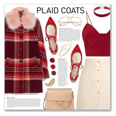 """Pattern Mix: Plaid Coats"" by myduza-and-koteczka ❤ liked on Polyvore featuring Gucci, Anja, Wildfox, Jimmy Choo, Chloé and Aurélie Bidermann"