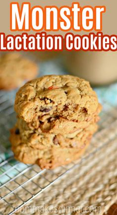 How to make monster lactation cookies! These lactation cookies are LOADED with ingredients that help increase milk supply. Plus, chocolate chips and peanut butter for good measure. You will love these easy lactation cookies. Easy Homemade Recipes, Homemade Baby Foods, Easy Cookie Recipes, Best Dessert Recipes, Coffee Recipes, Easy Desserts, Baby Food Recipes, Fall Recipes, Dessert Ideas