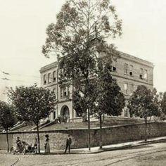 1900 - Colégio Mackenzie na Rua Itambé com Rua Maria Antonia.