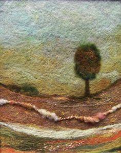 Needle felting , art yarns.