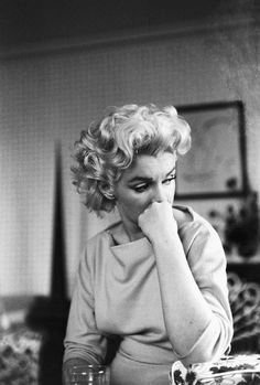 A more intimate photo of Marilyn that perfectly captures her vulnerability.