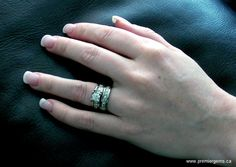 Engagement ring: 18K Palladium White Gold Set with: 0.70CT G/VS1 Radiant Cut Centre Diamond with 0.35CTTW Princess Cut Diamonds, G/H, VS2-SI1 Wedding Band: 18K Palladium White Gold set with: 0.72CTTW Princess Cut Diamonds, F/G, VS 1-2