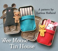 Super cute, tiny dolls that fit into little mint tin beds