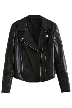 ROMWE | Slimming Black Leather Jacket, The Latest Street Fashion