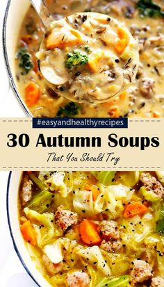 "30 ""Worth-Trying"" Autumn Soups 30 ""Worth-Trying"" Autumn Soups Related posts: 37 Vintage Recipes from the Worth Trying Today 10 Healthy, Vegan Soup Ideas for Autumn and Winter Our 41 Best Noodle Soups 30 Chicken Soup Recipes For This Autumn Slow Cooker Recipes, Crockpot Recipes, Cooking Recipes, Healthy Recipes, Healthy Soup, Simply Recipes, Comfort Food, Soup And Sandwich, Mets"