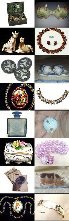 Vintage Collection Blitz - All things Girlie - #vintage #collectibles