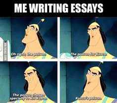 Me when I write essays