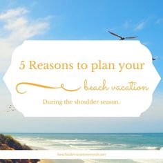 5 Reasons to plan your beach vacation during the shoulder season. The best kept secret of visiting our local beach towns.  #SoCal #SouthernCalifornia #beach #beachtravel