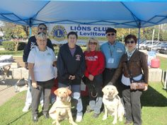 The Levittown Lions Club showcased two puppy guide dog to raise money for America's VetDogs program.
