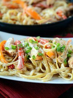 Lightened Up Creamy Cajun Chicken Pasta | Mel's Kitchen Cafe