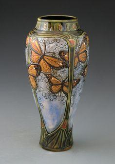 Vase New Art Sandstone Copper 1900 Jugendstil Artist To Identify The Latest Fashion Other Antique Ceramics Ceramics & Porcelain