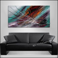 48 peinture abstraite grand Art pariétal Art par largeartwork