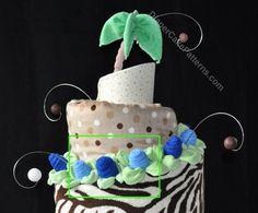 Diaper Cake Pattern PDF – Round Topsy Turvy Design & Video | Diaper Cake Patterns & Videos