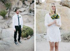 Short Lace Wedding Dress | rad + in love