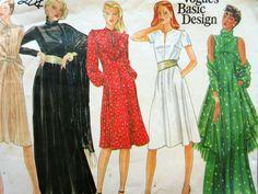 Vintage Vogue 2843 Sewing Pattern, 1980s Dress Pattern, Bust 30.5 to 31.5, 1980s Sewing Pattern, Shawl Pattern, Fit and Flare Dress by sewbettyanddot on Etsy