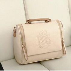 Hot Selling Luxury European Style Embossed Crown Pattern Leather Women Bag