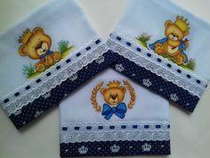 3 fraldas -0,70 x 0,70 cm - Com acabamento em tecido 100% algodão