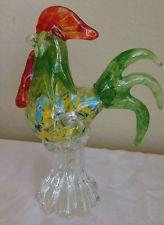 Murano Glass Rooster Cockerel Art ItalyItalian Figurine Hand Blown