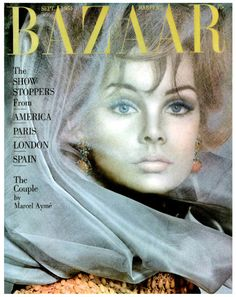 Harper's Bazaar-September 1964 Model Jean Shrimpton,wearing jewelry by Cartier and photographed by David Bailey, for the Cover of Magazine:Harper's Bazaar. Fashion Magazine Cover, Fashion Cover, Vogue Magazine, Magazine Covers, Patti Hansen, Lauren Hutton, Lindbergh, Richard Avedon Photography, Look Jean