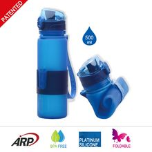 [Outdoor Sports] Personalized collapsible custom design foldable gym protein shaker water bottle