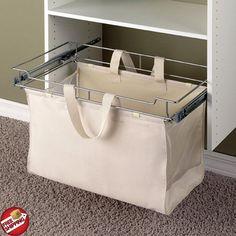Hamper Closet System Steel Laundry Storage Organizer Sorter Basket Bag Pull Out