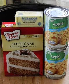 Super easy Crock Pot Apple Spice Dump Cake Recipe.  Many other good slow cooker recipes on this site.