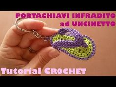 Tutorial portachiavi infradito ad uncinetto (sub. English and Espanol) - YouTube